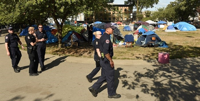 Vancouver Park Board general manager Malcolm Bromley issued an order Monday morning to those living in tents in Oppenheimer Park. Photo: Dan Toulgoet