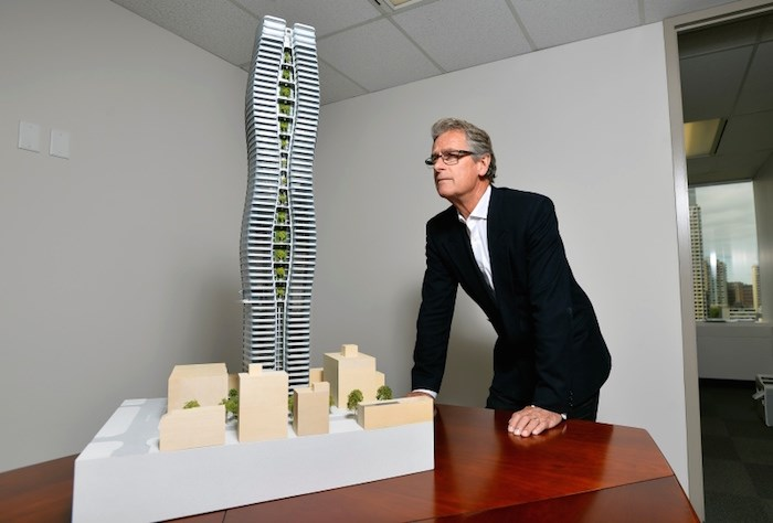 """Rick Gregory, vice president of Henson Developments, said the company's team is working """"very co-operatively"""" with city of Vancouver staff on the plans. Photo by Jennifer Gauthier/Vancouver Courier"""