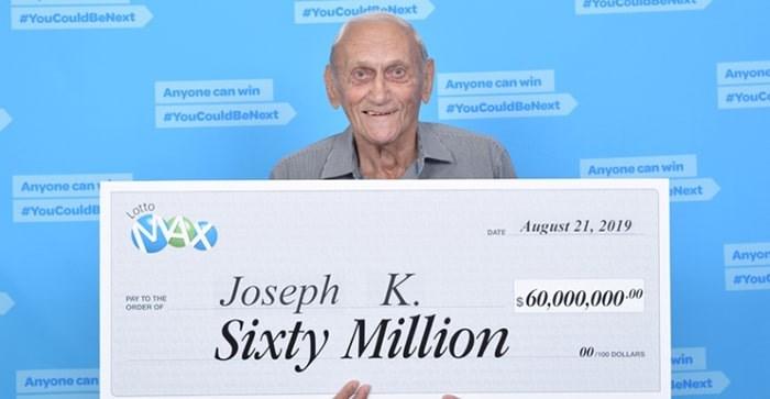 Richmond's record-breaking Lotto winner Joseph Katalinic. Lotto Max