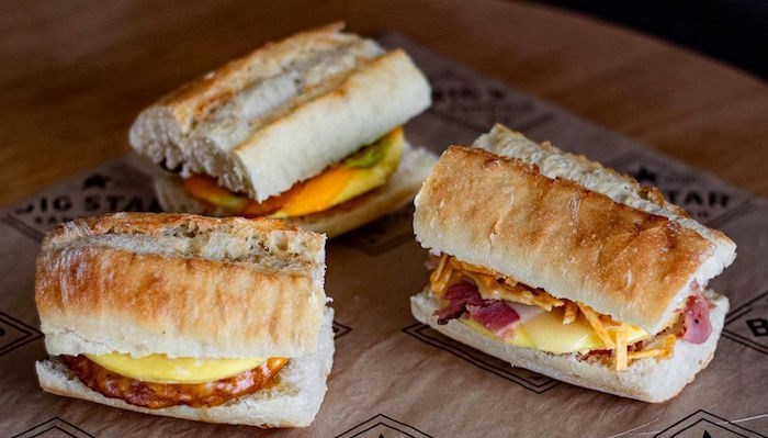 A few of the sandwiches in Big Star's new breakfast line-up.
