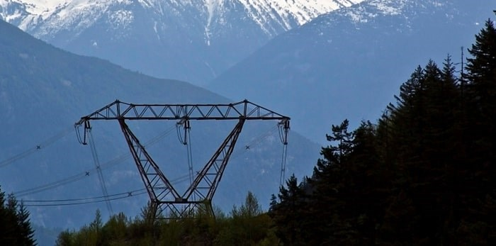Power lines and tower in B.C./Shutterstock