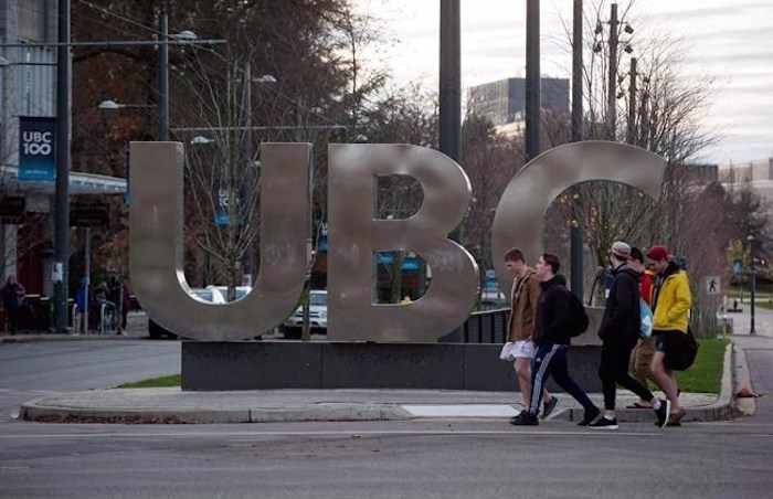 A B.C. Supreme Court judge has awarded author Steven Galloway access to emails between a woman who accused of him of sexual assault and staff at the University of British Columbia in the first test of a provincial law intended to protect freedom of expression. People walk past large letters spelling out UBC at the University of British Columbia in Vancouver on Nov. 22, 2015. THE CANADIAN PRESS/Darryl Dyck