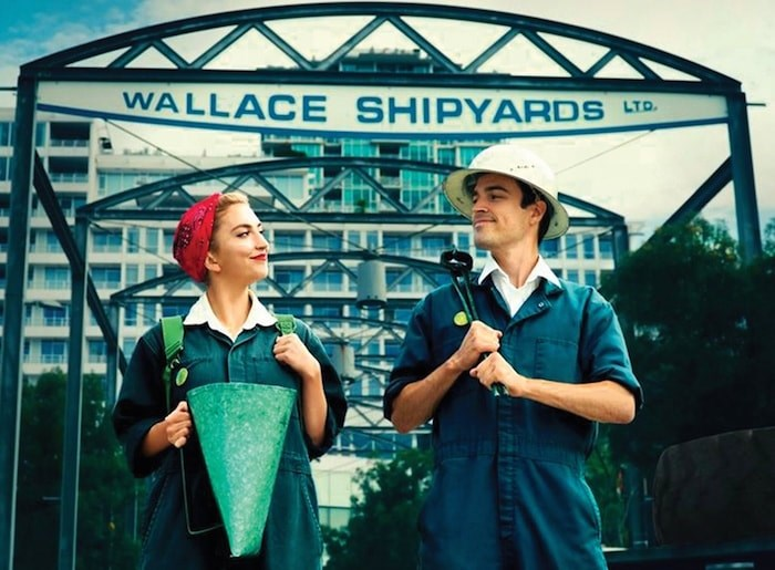 The Shipyard Pals characters the North Vancouver Museum and Archives use to teach visitors about the history of shipbuilding on the North Vancouver waterfront. Photo courtesy North Vancouver Museum and Archives