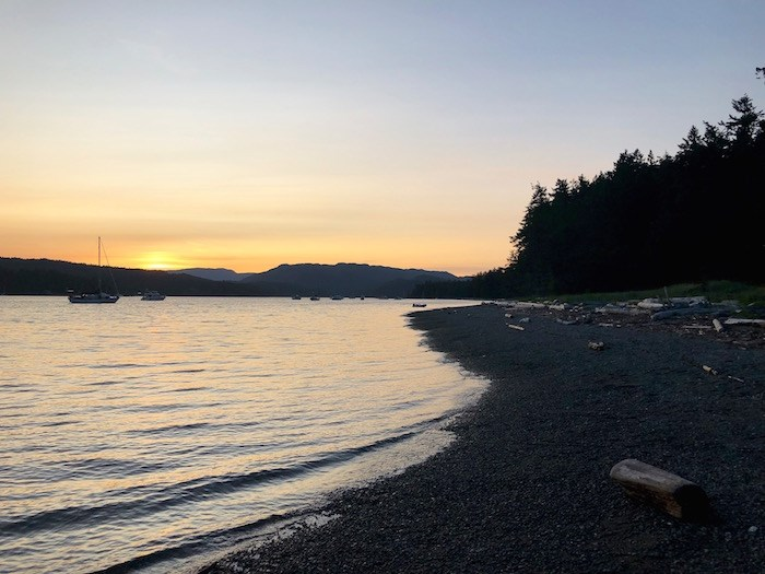 Sunset on Rebecca Spit. Photo by Lindsay William-Ross/Vancouver Is Awesome