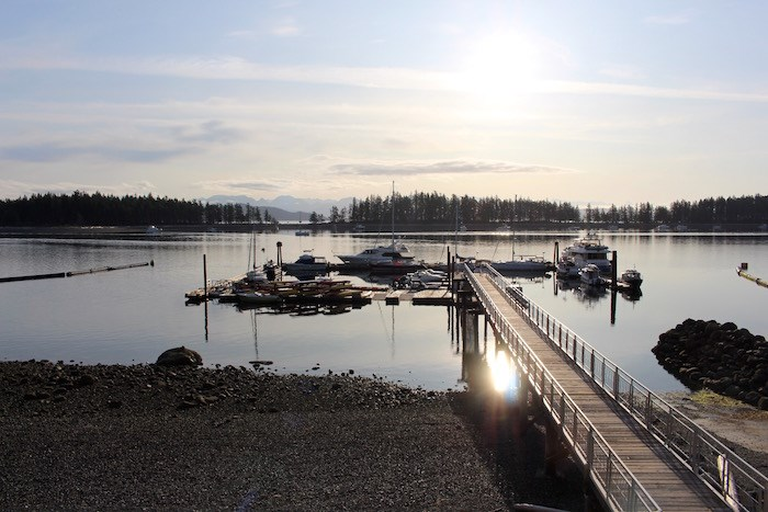 Sunrise view from the Upper Beach House suite at Taku Resort & Marina. Photo by Lindsay William-Ross/Vancouver Is Awesome