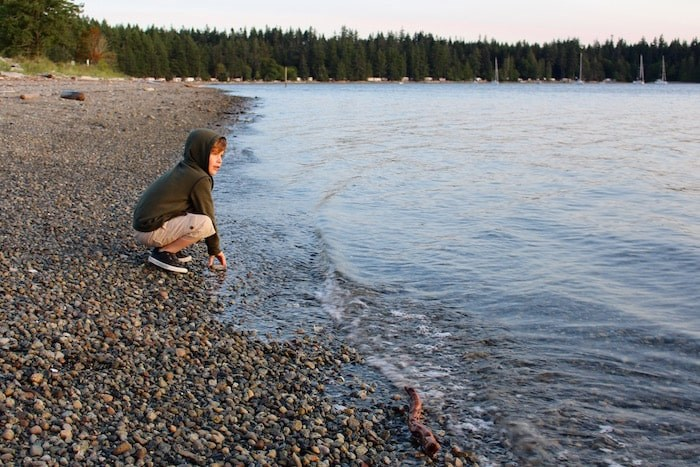 Take some time to throw rock from Rebecca Spit. Photo by Lindsay William-Ross/Vancouver Is Awesome