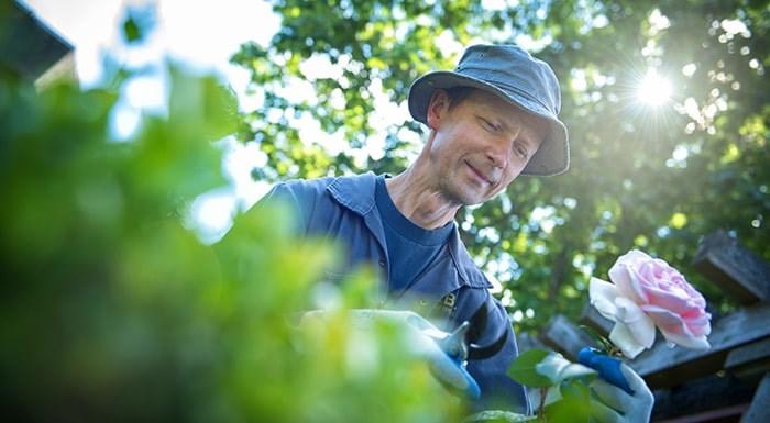 A gardener at UBC. Photo courtesy of UBC.