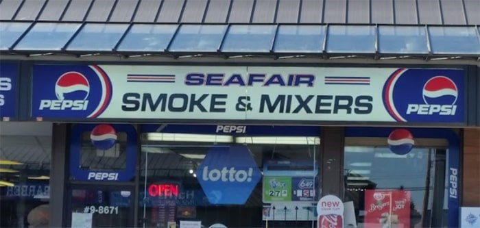 The owner of Seafair Smoke & Mixer is set to bag $60,000 after a customer won $60 million. Google maps