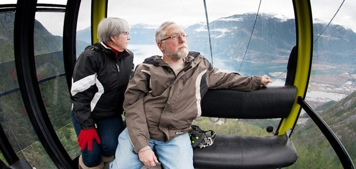 Squamish's Doug Brubacher and wife Sue ride the Sea to Sky Gondola in happier times.
