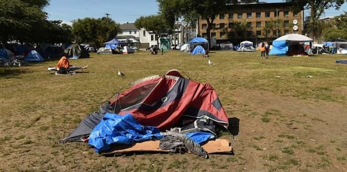 City councillor Jean Swanson says all three levels of government need to come together to make a plan that will end homelessness in Vancouver. Photo: Dan Toulgoet