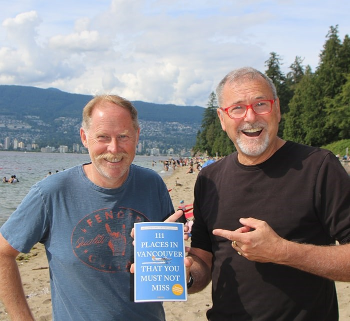 Authors of 111 Places in Vancouver That You Must Not Miss, Graeme Menzies and Dave Doroghy. Photo: Courtesy of Dave Doroghy.