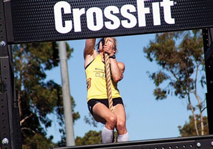 Susan Clarke shows her strength during a previous World CrossFit Games competition. file photo supplied by Kate Webster
