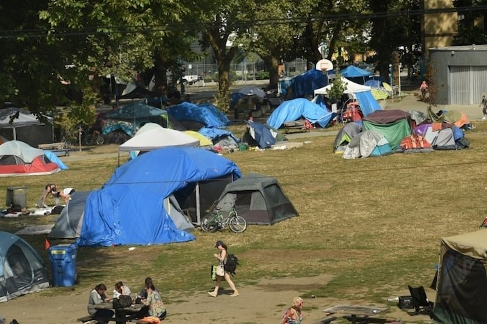 Park board chairperson Stuart Mackinnon said Friday the board will not seek an injunction to remove homeless people from Oppenheimer Park. Photo Dan Toulgoet/Vancouver Courier