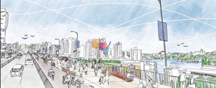 Design concept for option 3: East Side.
