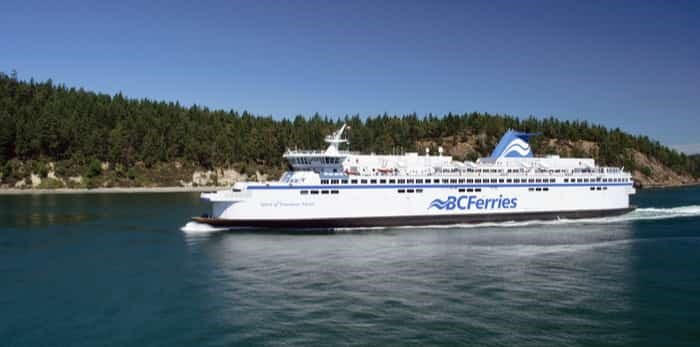 A 2018 report at the provincial level puts forth the idea of putting a BC Ferries terminal near YVR airport. Photo: A BC ferry between Vancouver and Vancouver Island on July 26, 2013/Shutterstock