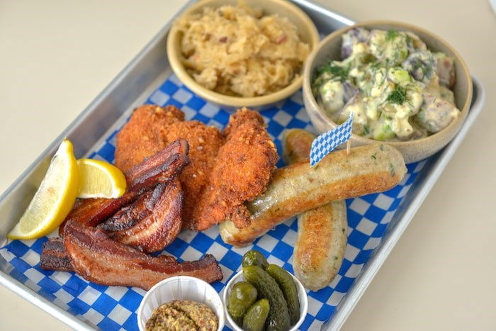 The Oktobeerfest Platter at Bells and Whistles. Photo by Jonathan Norton/courtesy Bells and Whistles