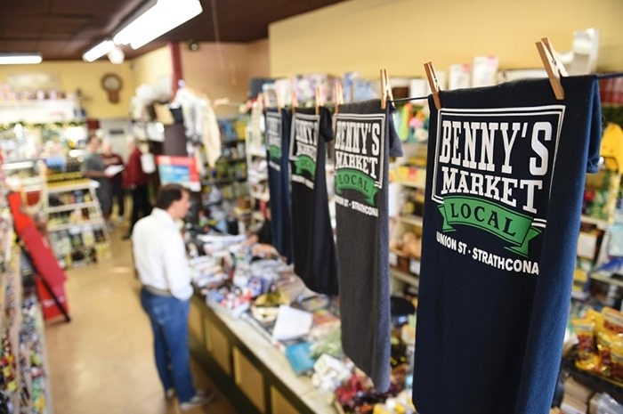 Benny's Market remains a bustling business, selling specialized Italian goods in the heart of Strathcona. File photo Dan Toulgoet