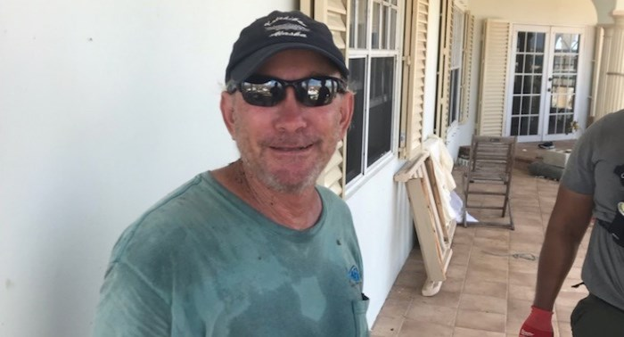 Canadian Dale Hill was located by a Burnaby firefighters search and rescue team at his home in the Bahamas Wednesday morning, after Hurricane Dorian knocked out phone lines and cell service in the area. Photo contributed.
