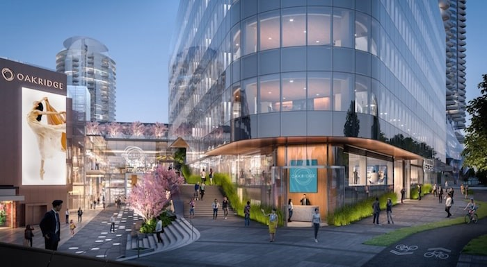 View from West 41st Avenue looking southwest. Rendering Henriquez Partners Architects