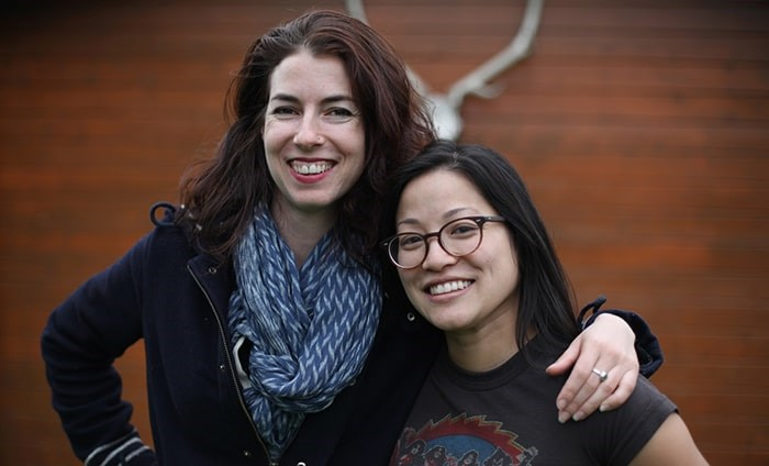Filmmakers Cat Mills and Joella Cabalu. Photo Josephine Anderson