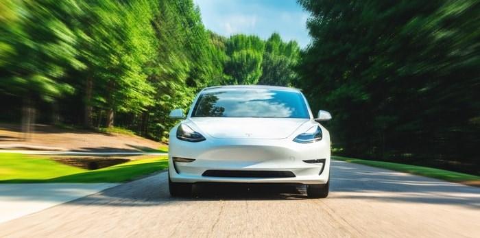 A Tesla Model 3. TierneyMJ/Shutterstock.com