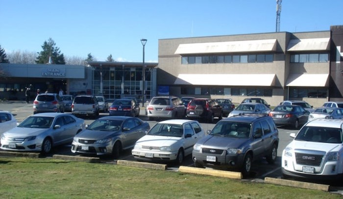 A 2010 bylaw prohibits pay parking at Delta Hospital. Delta Optimist file photo