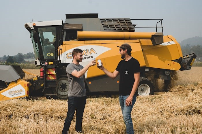 Abbotsford's Field House Brewing features local ingredients in its Farmland series of beers, including unmalted barley grown on the brewery's own farm. Photo courtesy Field House