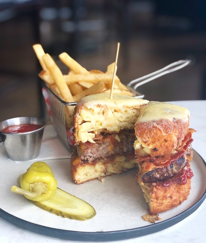 Le Big Mac N Cheese Burger at CAVU Kitchen Bar in Richmond. Photo by Lindsay William-Ross/Vancouver Is Awesome