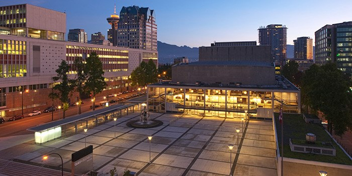 Queen Elizabeth Theatre plaza. Photo courtesy Queen Elizabeth Theatre