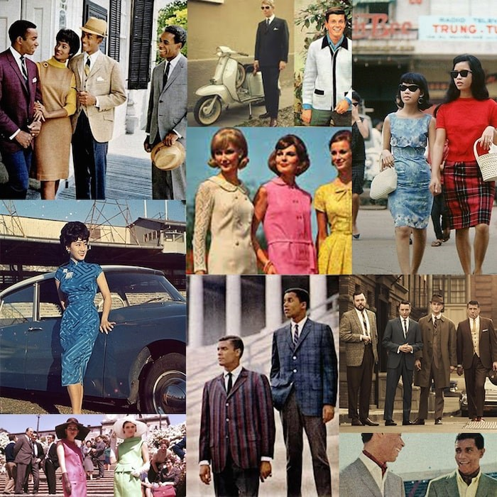 Mid-Century fashion inspiration compiled by the Queen Elizabeth Theatre