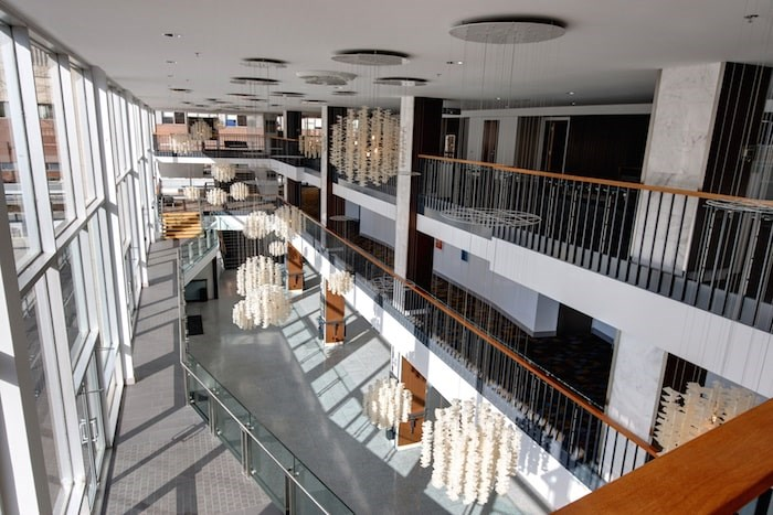 The lobby of the Queen Elizabeth Theatre. Photo courtesy Queen Elizabeth Theatre