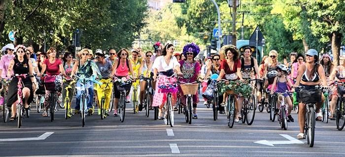 The Fancy Women Bike Ride taking place in Milan, Italy. Photo: Fancy Women Bike Ride Facebook