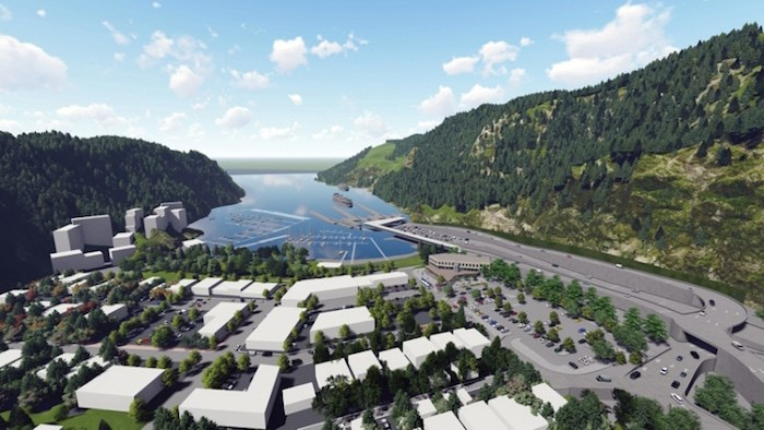 The revamped terminal would include a second exit road and a connection to the Spirit Trail. Image courtesy BC Ferries