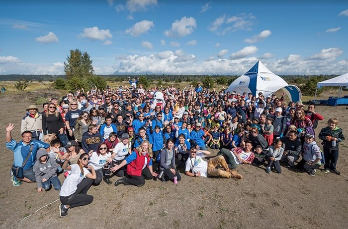 Volunteers at Iona Beach Regional Park. Photo: Great Canadian Shoreline Cleanup