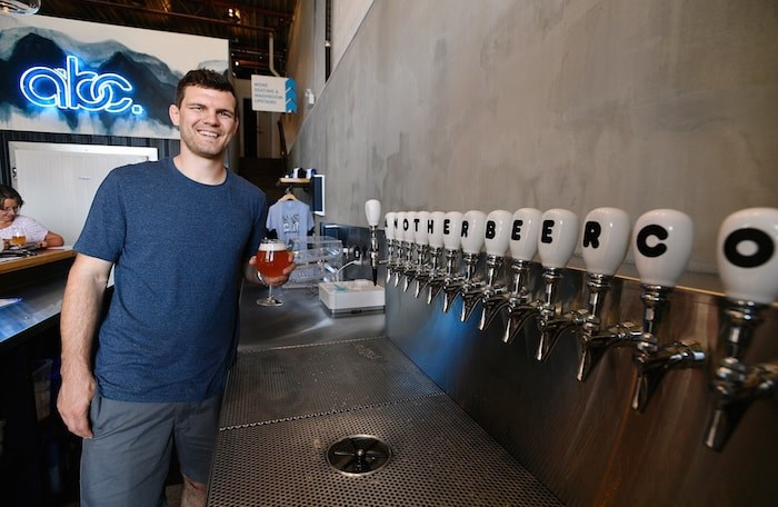 Clete Hanson co-founded Another Beer Co. with Alex Jopson. They are grateful for the overwhelming response they've had from the community since opening in June. Photo by Jennifer Gauthier