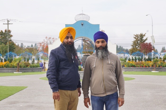 Guru Nanak Sikh Gurdwara spokesperson Gagan Singh, left, and temple president Harpreet Nijjar support Sikh separatist movement, an issue that has caused problems in Prime Minister Justin Trudeau's foreign affairs portfolio Photo by Graeme Wood