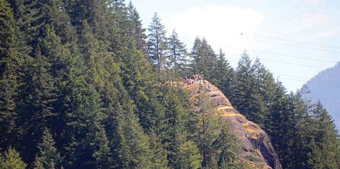 Quarry Rock trail users called emergency crews after a man in his 30s collapsed and became unconscious while doing the popular hike Saturday. file photo Cindy Goodman, North Shore News