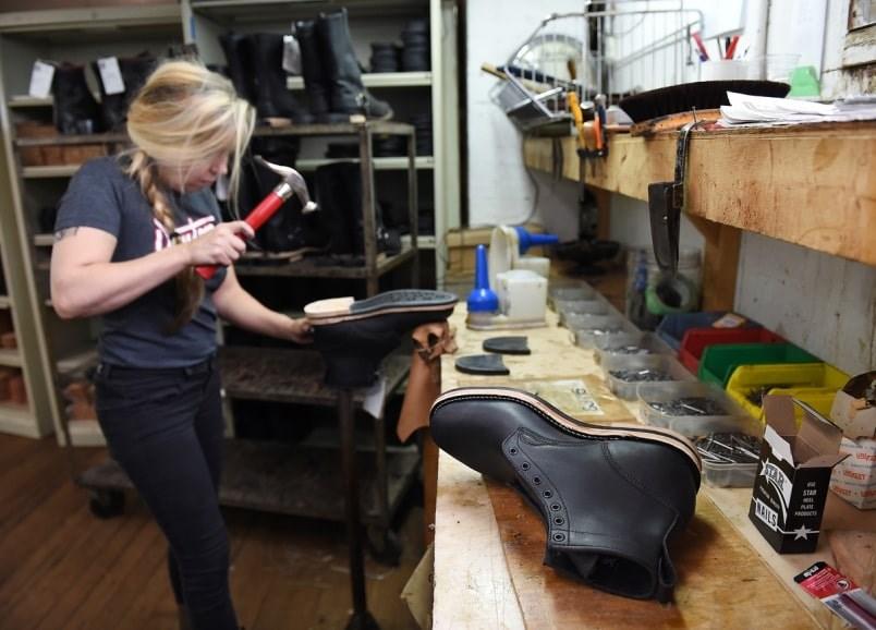 Inside Dayton Boots Factory on East Hastings Street. Photo Dan Toulgoet