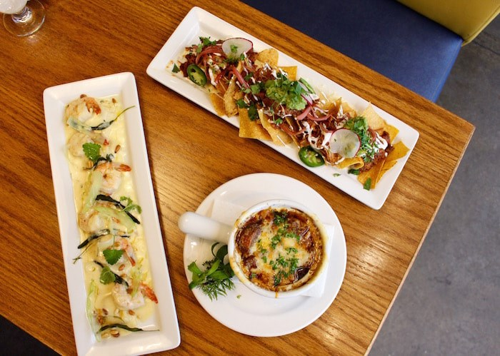 Pulled pork tostadas, French onion soup, and butternut squash ravioli with prawns. Photo by Lindsay William-Ross/Vancouver Is Awesome