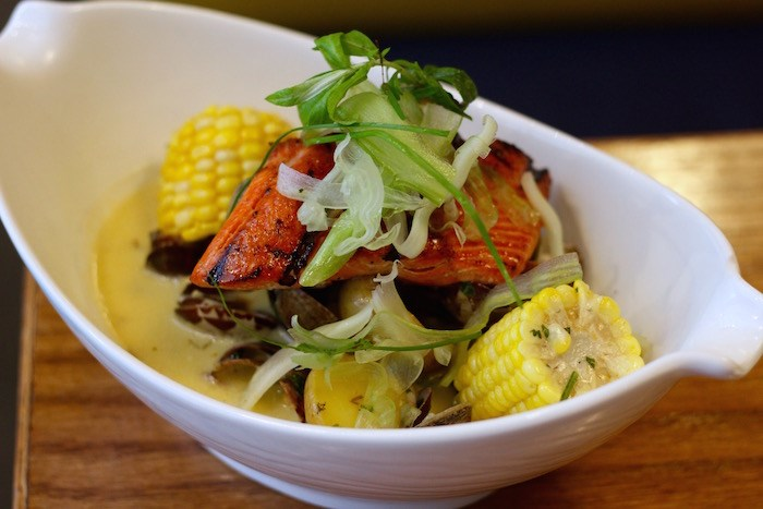 Clam Chowder + Wild Salmon. Photo by Lindsay William-Ross/Vancouver Is Awesome