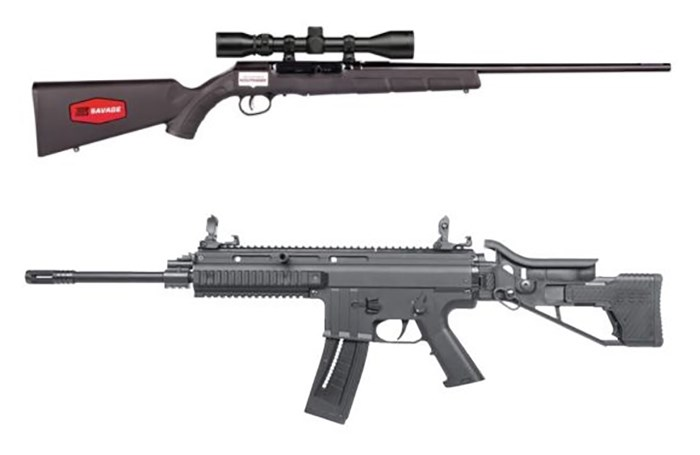These two semi-automatic rifles do the exact same thing. One looks scarier. Guess which one Trudeau and the Liberals hope to completely ban? Photos Bass Pro Shops