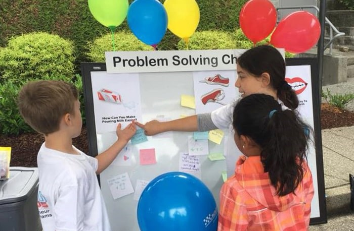 Build a Biz Kids problem solving. Photo: Build a Biz Kids