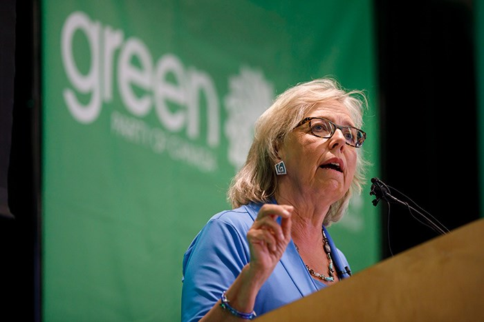 Green Party of Canada leader Elizabeth May. Photo THE CANADIAN PRESS/Cole Burston
