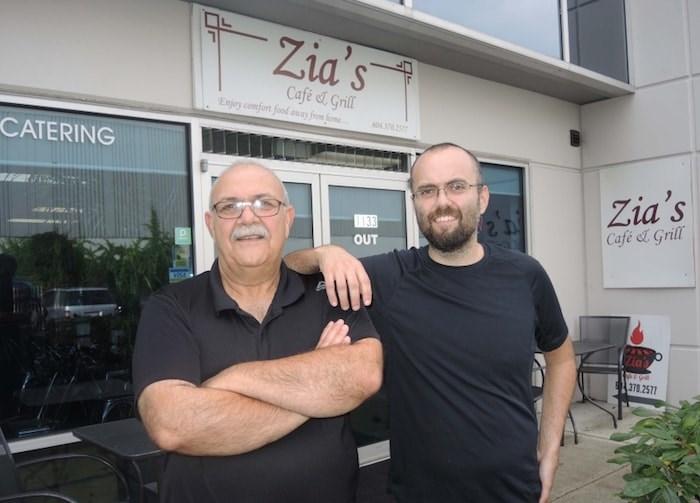 Zia Arfaee (left) and his son, Sama, run the