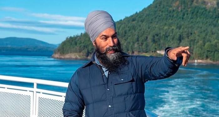 NDP Leader Jagmeet Singh on Saturday, Sept. 28, 2019. THE CANADIAN PRESS/Andrew Vaughan