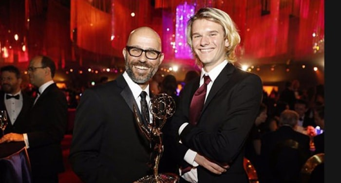 Thomas Schelesny, a visual effects supervisor living in Tsawwassen, won the Emmy last week for Outstanding Special Visual Effects for the episode The Bells on the final season of Game of Thrones. He is pictured with his son Hudson. Photograph By Thomas Schelesny