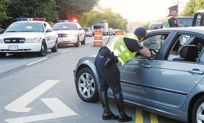 Burnaby RCMP officers are warning people about driving while impaired. Burnaby NOW file photo