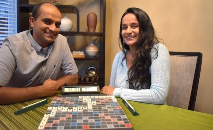Dean Saldanha and Dielle Pinto have memorized thousands of words ahead of the World Scrabble Championships in Goa, India. Photo by Maria Rantanen/Richmond News