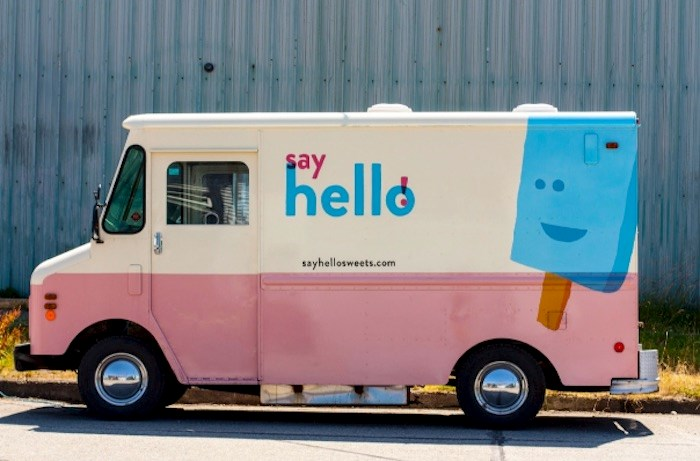 The Say Hello Sweets truck was broken into and badly damaged on Sunday night. Photo via