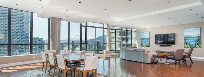 A real estate listing on luxuryrentalsuites.ca says the penthouse apartment Rees Cameron rented on Pacific Street is 4,000-sq. ft. with five bedrooms, seven bathrooms and occupies the entire 31st floor of the building. Photo via luxuryrentalsuites.ca